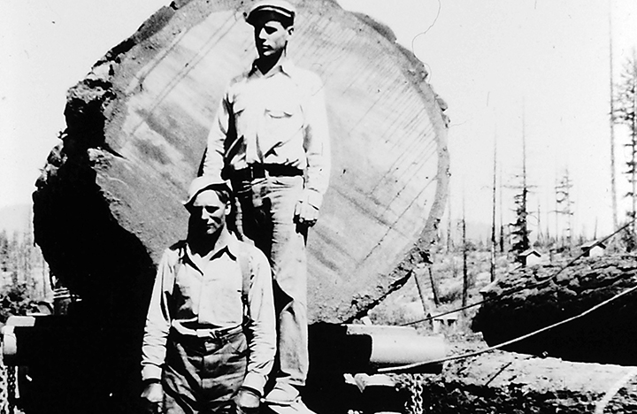 Loggers out in Butte Falls about 1905
